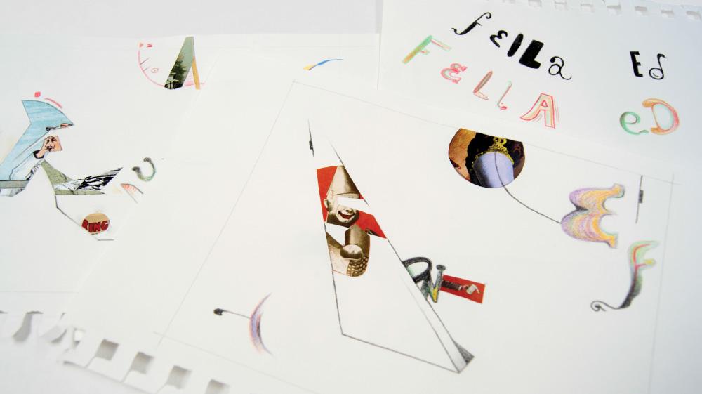 Interactive Ed Fella Collage