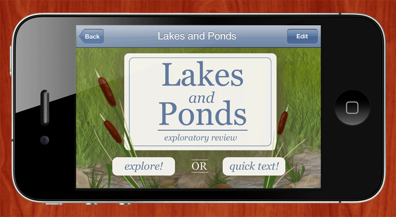 Lakes and Ponds iPhone app